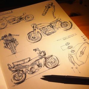 Cafe racer bike & Honda Dax 125